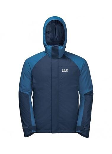 Jack Wolfskin Steting Peak 3İn1 Erkek Ceket - 1112211-1024 Mavi